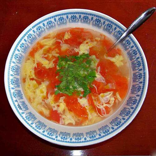 营养西红柿黄瓜鸡蛋汤