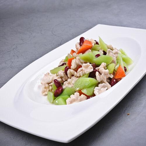 莴笋胡萝卜丝炒肉
