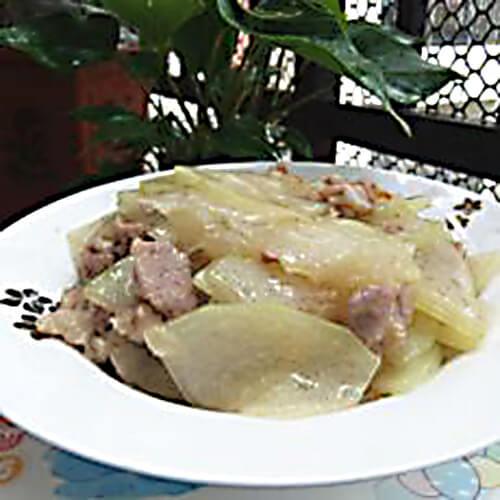 冬瓜清炒瘦肉
