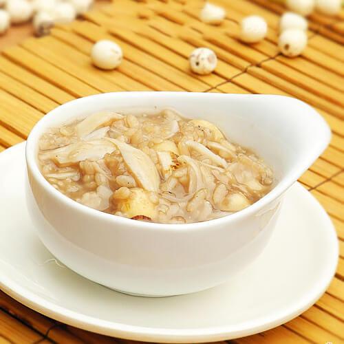 灵芝小麦粥