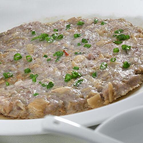 虾仁蒸肉饼