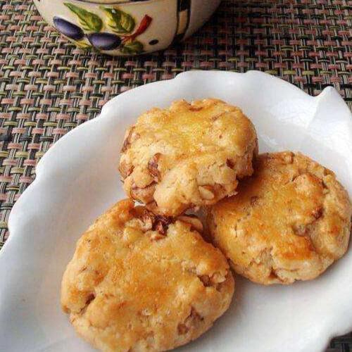 核桃蛋白脆饼