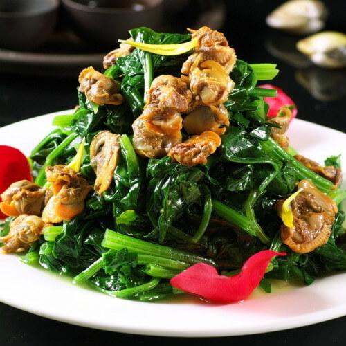 菠菜拌海蜇