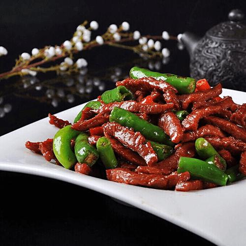 杭椒炒牛柳