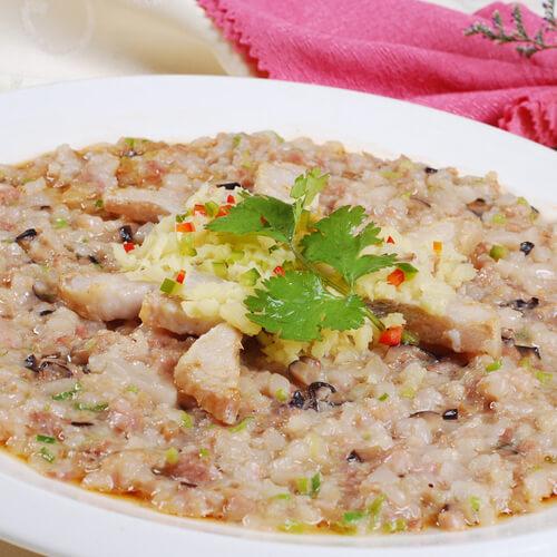 鱿鱼蒸肉饼