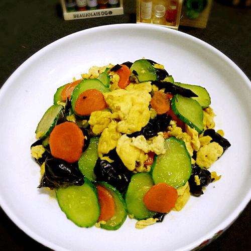 黄瓜豆芽炒鸡蛋