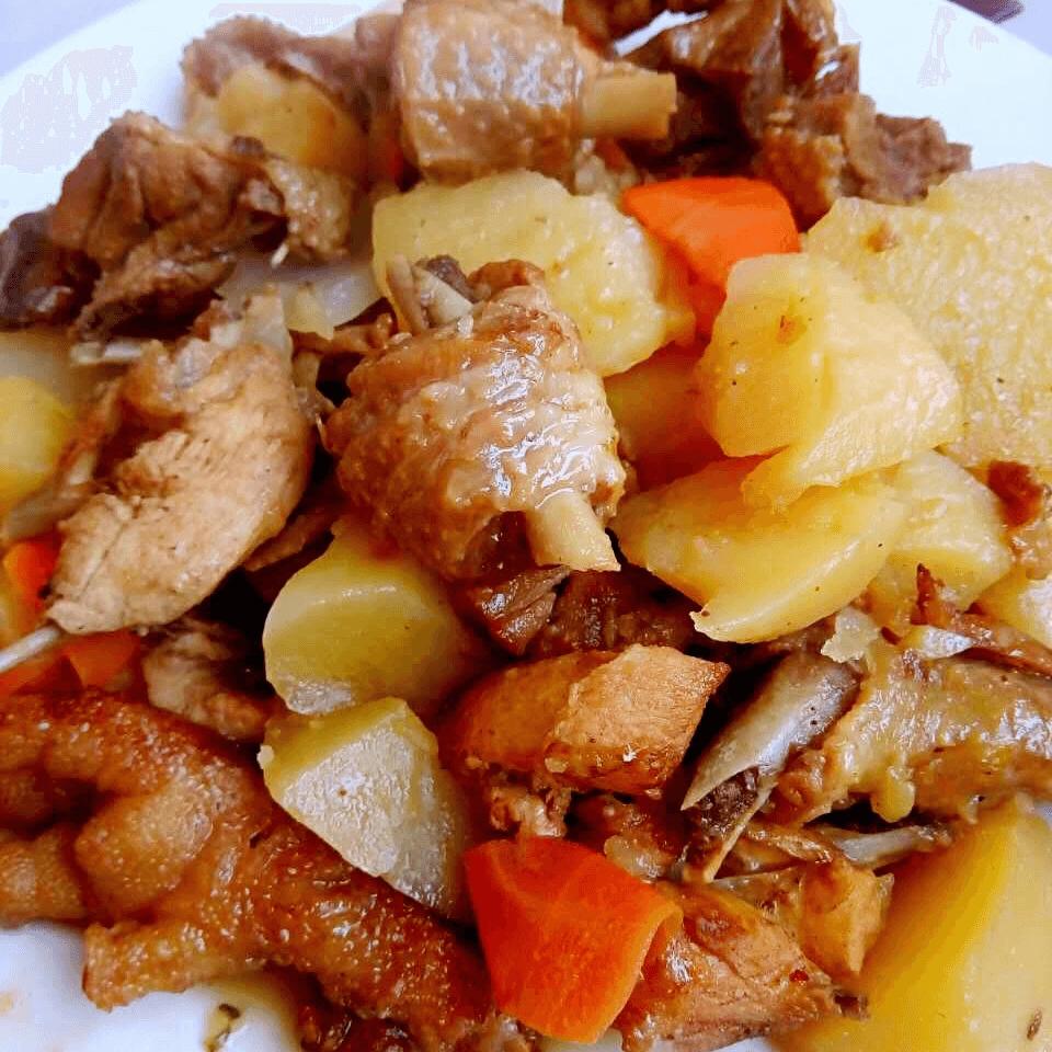 妈妈做的新疆大盘鸡