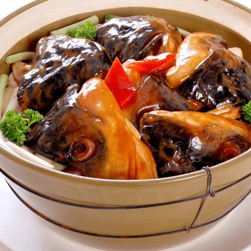 啫啫砂锅鱼头煲