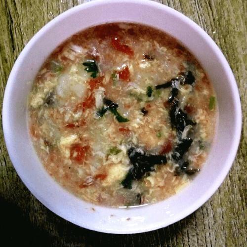 清香紫菜炒米粥