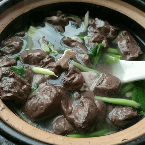 猪血肉末汤