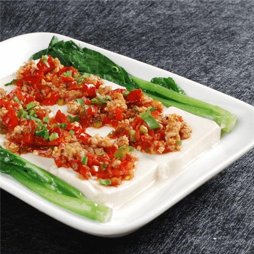 清蒸肉沫豆腐