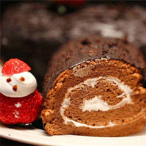 巧克力海綿蛋糕卷