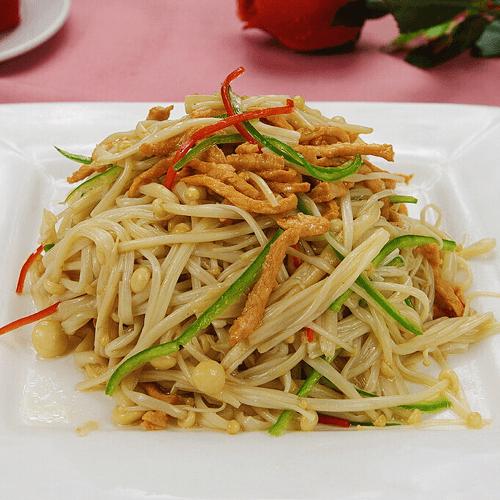 金针菇辣椒炒肉丝