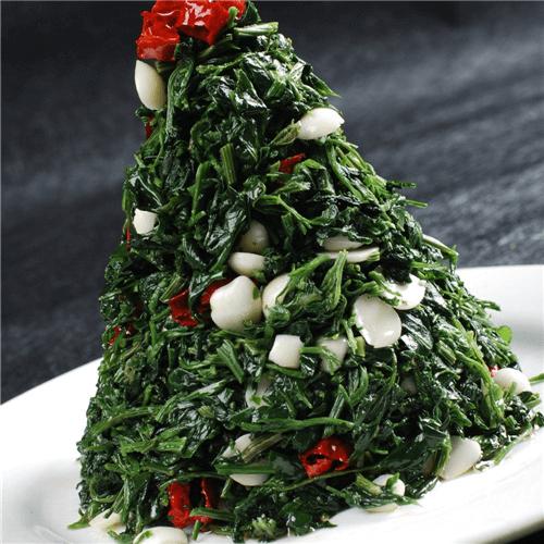 菠菜炒百合