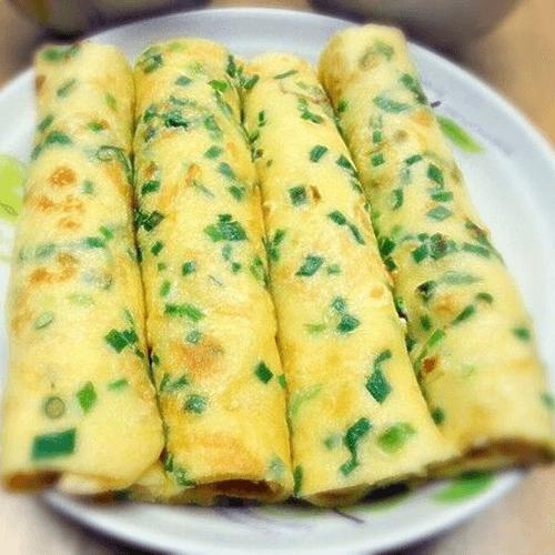 早餐美食之葱花鸡蛋饼