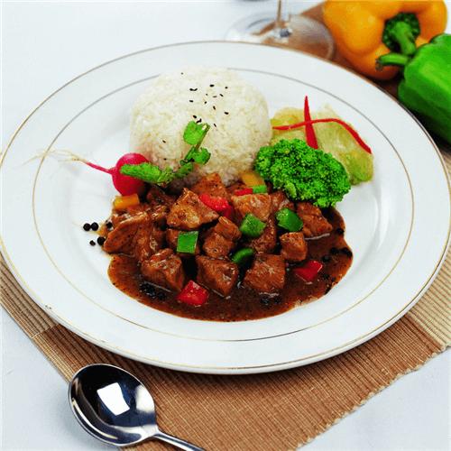 黑胡椒炒肉