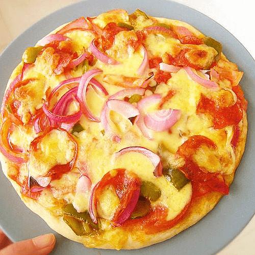 香辣培根披萨