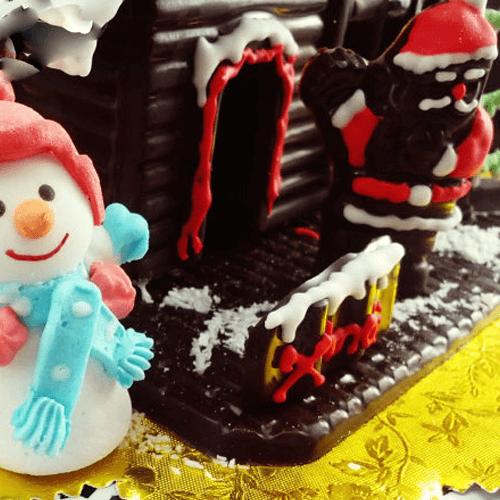 圣诞巧克力糖果小屋