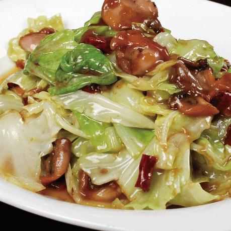 金针菇炒圆白菜