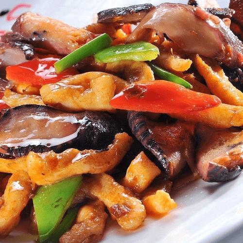 山药胡萝卜炒香菇