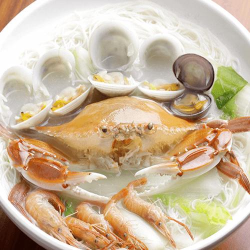 梭子蟹海鲜面