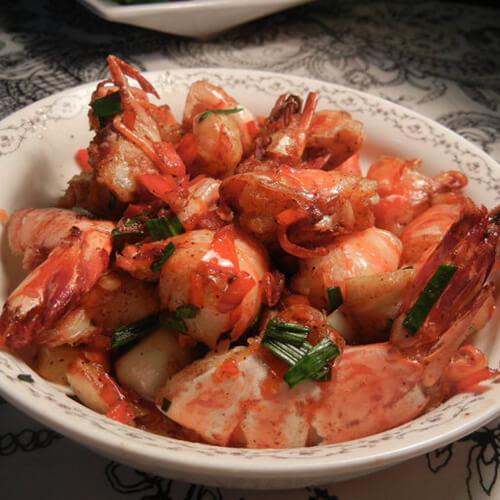 黑椒汁煎九节虾
