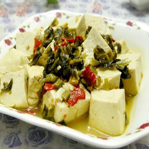 雪菜焖豆腐
