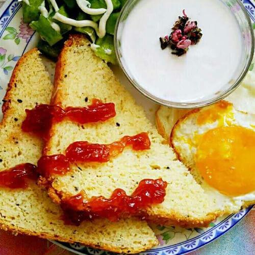 蛋煎沙拉馒头