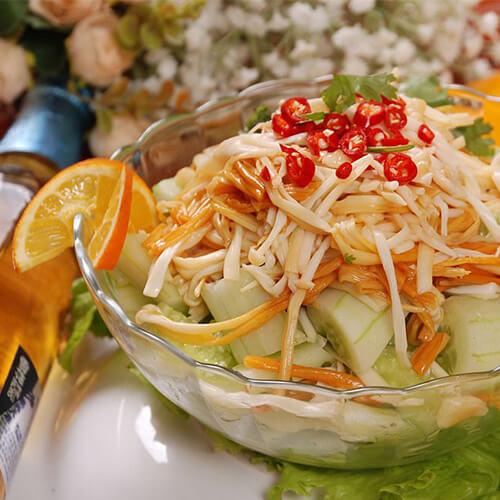 黄瓜拌金针蘑