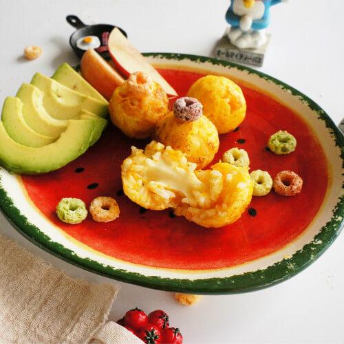 番茄沙司南瓜花饼
