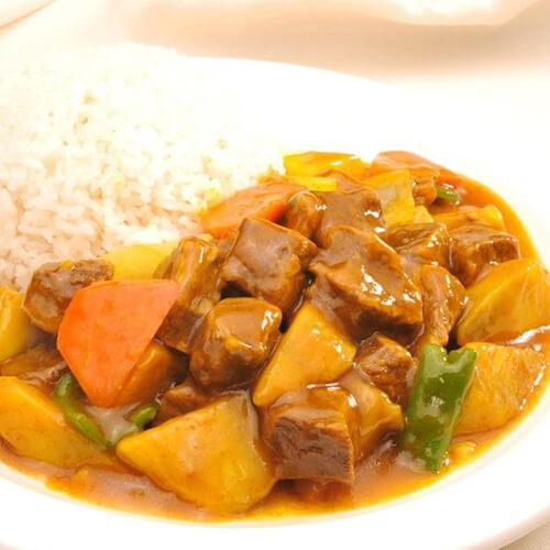 咖哩牛腩香米饭