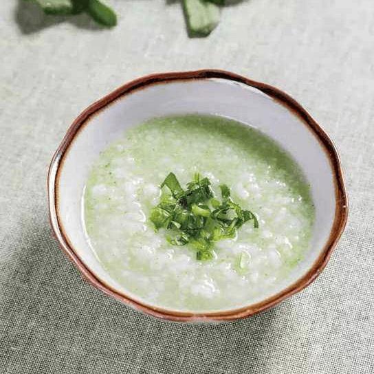 小米青菜蛋花粥