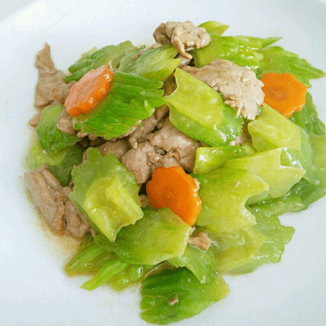 苦瓜橄榄菜炒肉片
