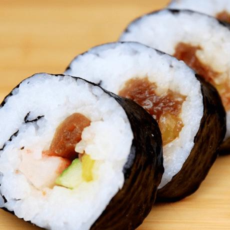 美味的自制寿司