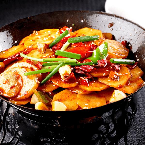 自制干锅土豆片