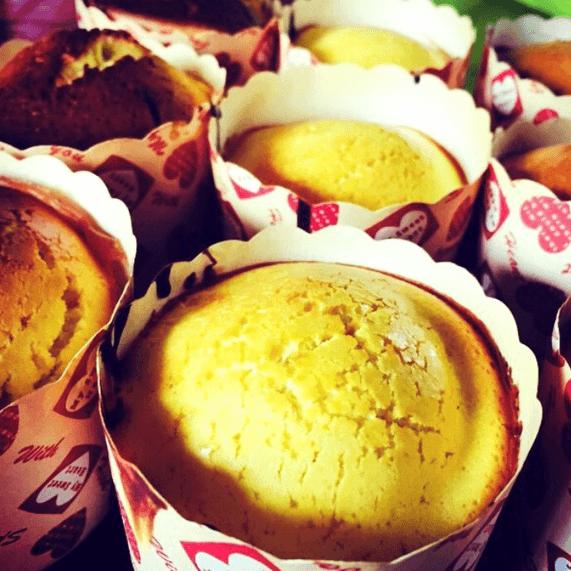 美味的烤蛋糕