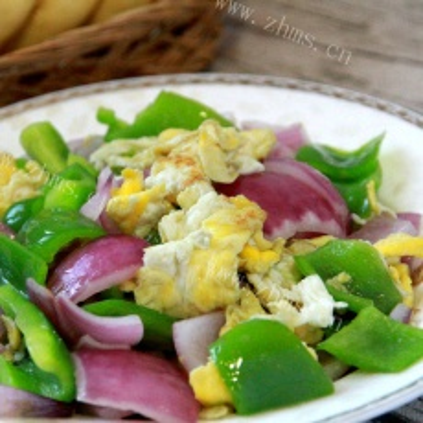 美味的洋葱炒鸡蛋