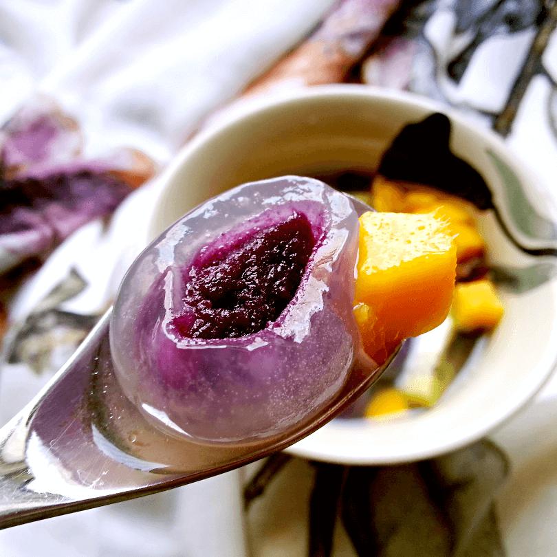 美味的水果汤圆