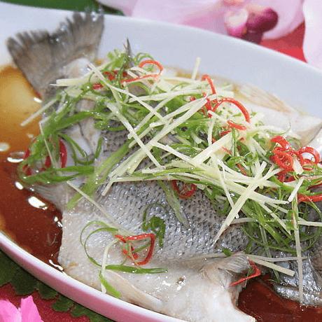 美味的清蒸鳜鱼
