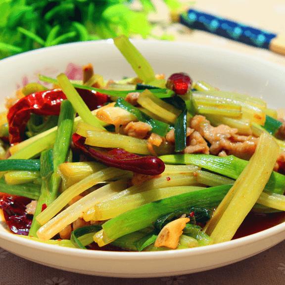 自制芹菜炒肉