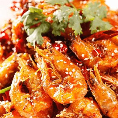 美味的香辣虾