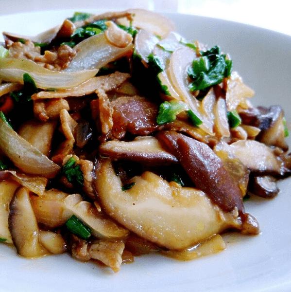 最爱的香菇炒肉