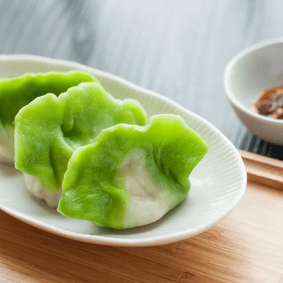 漂亮的翡翠饺