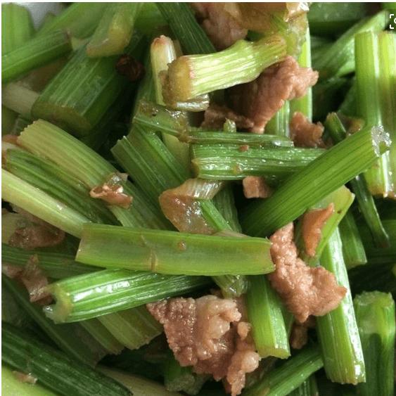 美味的芹菜炒肉