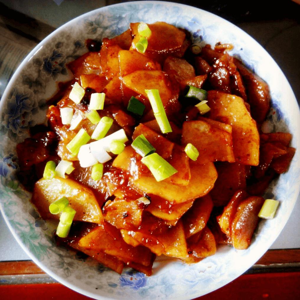 自制红烧土豆片