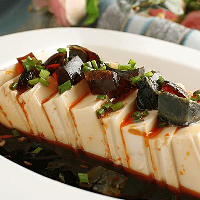 简单菜小葱拌豆腐