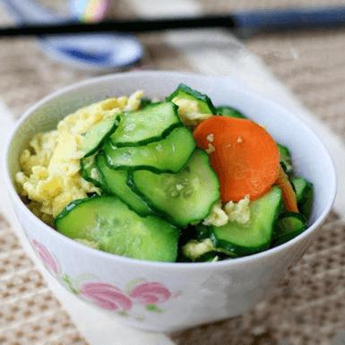 好吃的青瓜炒蛋