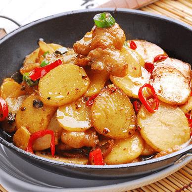 美味的红烧土豆片