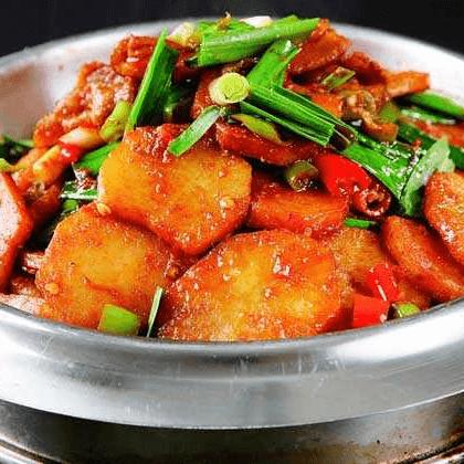 美味的干锅土豆片