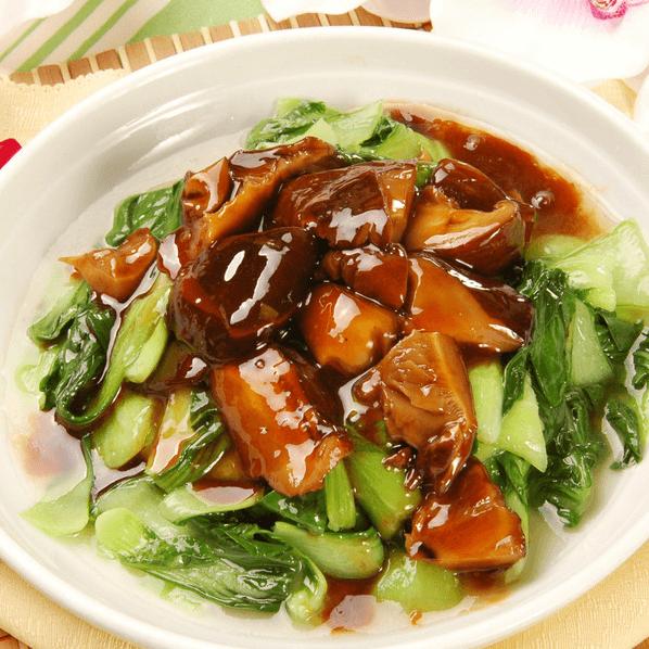 爽口的香菇油菜